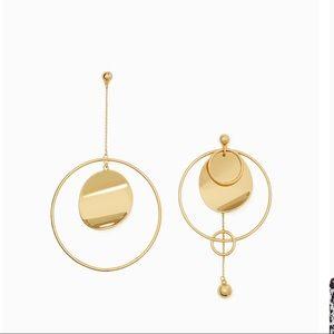 Kate spade asymmetrical gold standard earrings